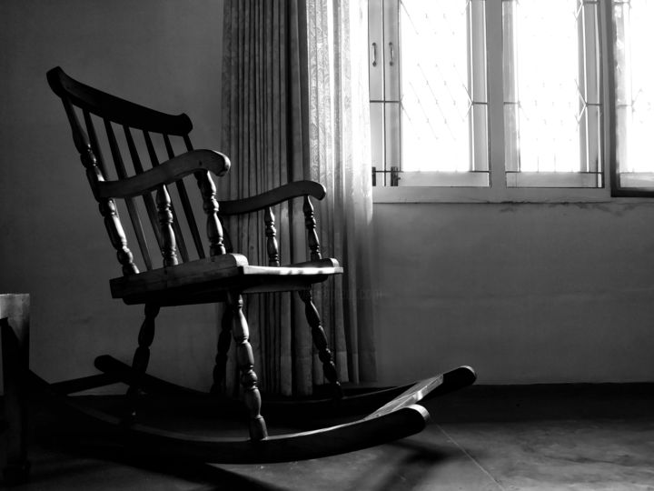 The Rocking Chair   Photography ©2018 By Vishesh Unni Raghunathan   Black  And White,
