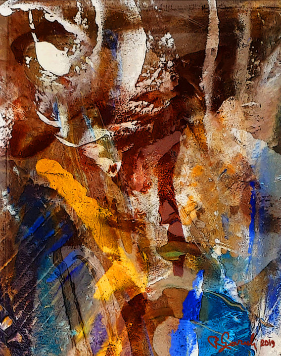 """Painting titled """"ABSTRACTION"""" by Roland Garuli, Original Art, Oil"""