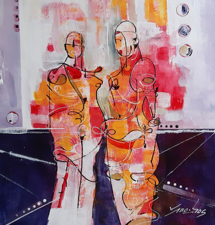 """Painting titled """"Pose 05"""" by Vitor Moinhos, Original Art, Acrylic"""
