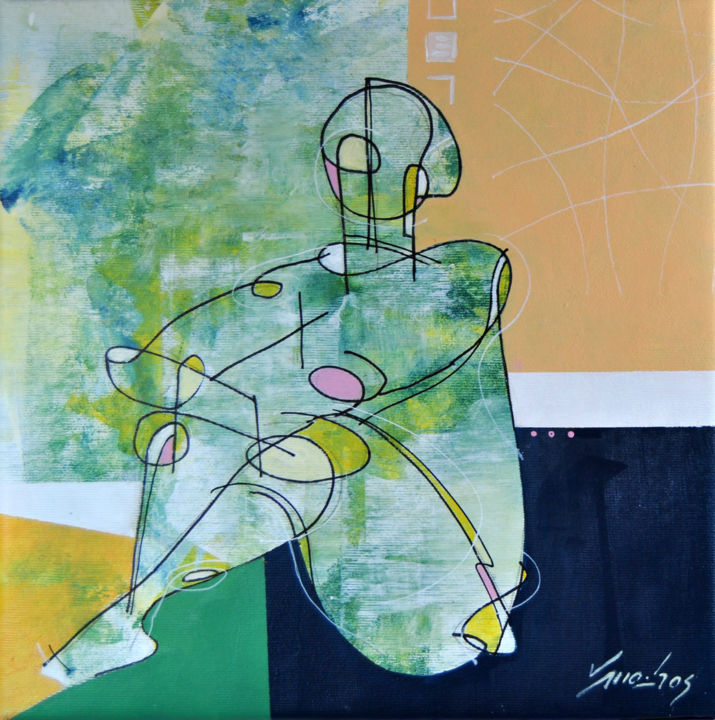 """Painting titled """"Pose 09"""" by Vitor Moinhos, Original Art, Acrylic"""