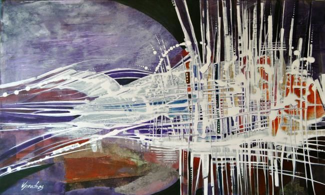 Metamorfose - Painting,  23.6x39.4 in, ©2011 by Vitor Moinhos -                                                              abstato