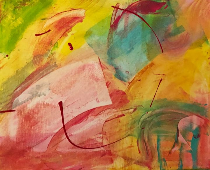 """Painting titled """"""""Couleurs mexicaine…"""" by Viv, Original Art, Acrylic"""