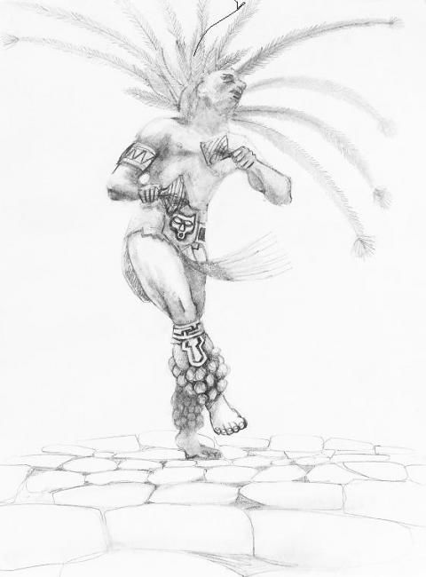 """Painting titled """"Chichimeca warrior…"""" by Viviano, Original Art, Other"""