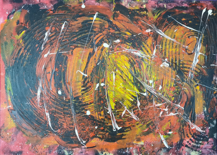 """Painting titled """"Happy Days"""" by Vlasta Jascur, Original Art, Acrylic"""