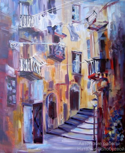 """Naples"" - Artcraft,  40x50 cm ©2010 by Natalia Volobueva -            painting ""Naples"" painted in oils on canvas"