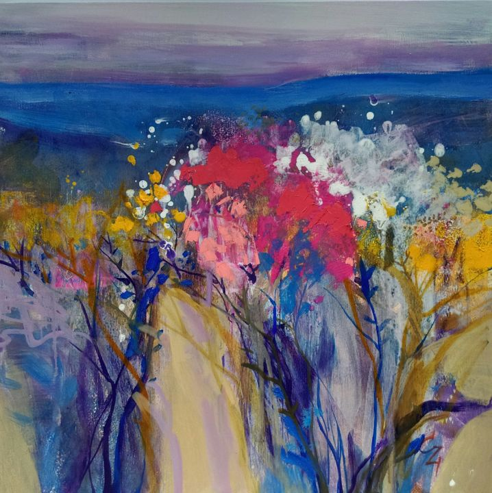 """Painting titled """"wildflowers"""" by Victoria Cozmolici, Original Art, Oil"""