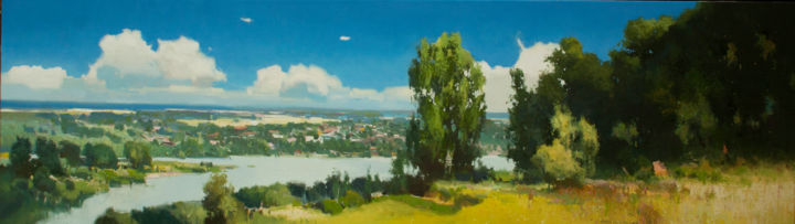 """Painting titled """"SUNNY DAY"""" by Vytautaslaisonas, Original Art, Oil Mounted on Stretcher frame"""
