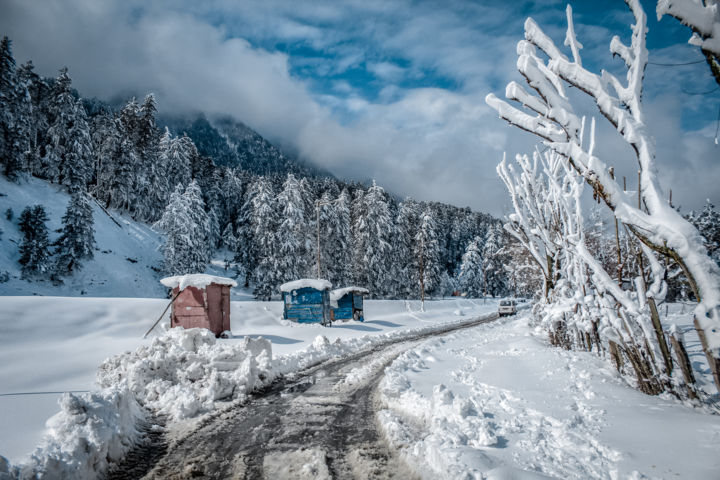 """Photography titled """"Winter"""" by Zuhaib Wahid, Original Art, Digital Photography"""