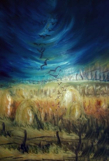 Painting, oil, abstract, artwork by Marzena Walczuk