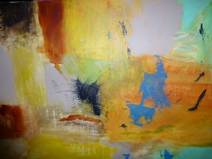 fevrier-2014.jpg - Peinture,  23,6x23,6x36,2 in, ©2014 par Michaile -                                                                                                                                                                          Abstract, abstract-570, Libre
