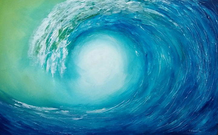 """Painting titled """"Drifting through th…"""" by Wasantha Ranjan, Original Art, Acrylic Mounted on Stretcher frame"""