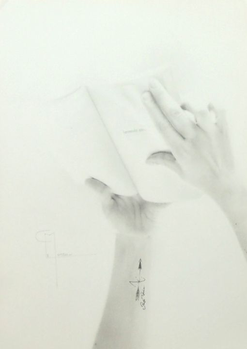 """Drawing titled """"Tout commence ici"""" by Christophe Moreau, Original Art, Pencil"""