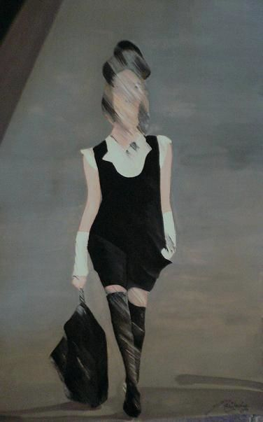 Runway - 1 - Painting,  18x12 in ©2009 by Abhilasha -