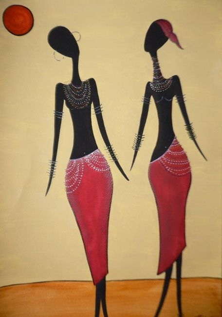 Tribal - 1 - Painting,  18x12 in ©2009 by Abhilasha -