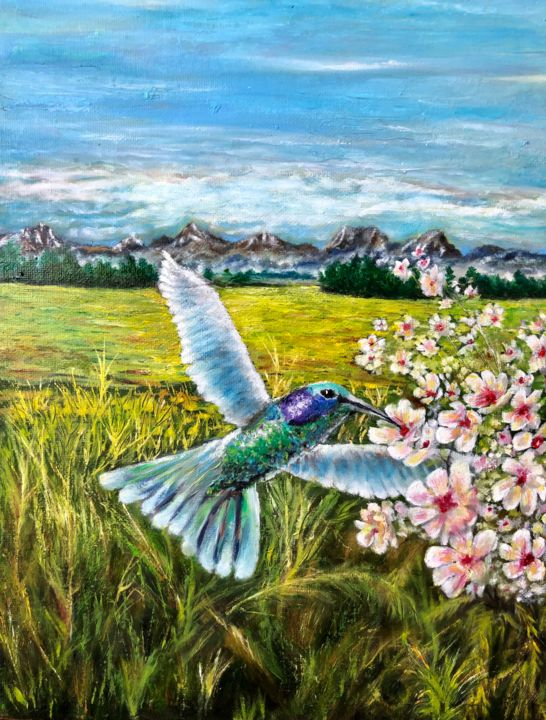 """Painting titled """"Summer"""" by Valery, Original Art, Oil"""