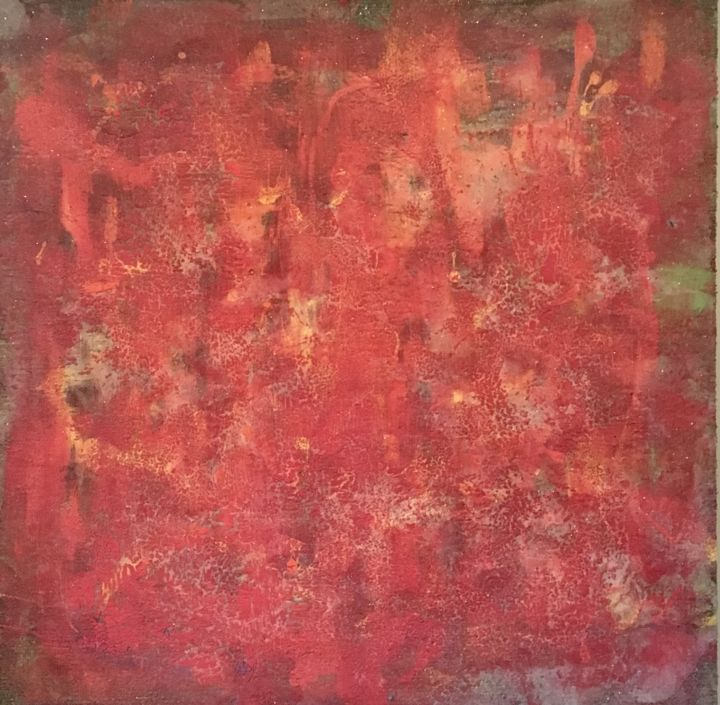"""Painting titled """"Red"""" by Greg Kaiser, Original Art, Pigments Mounted on Stretcher frame"""