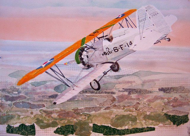 """Collages titled """"f4b-4/vf6b"""" by Don Weaver, Original Art,"""