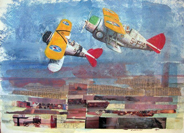 """Collages titled """"f2f/vf5"""" by Don Weaver, Original Art,"""