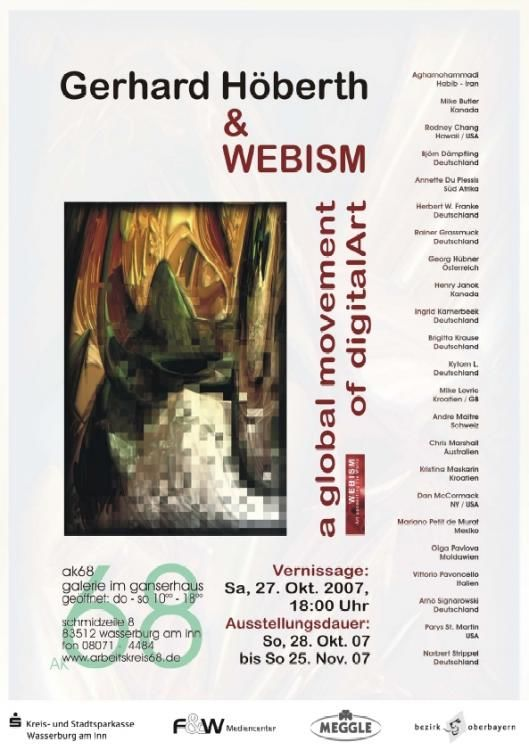 Show poster designed by Gerhard Höberth, Wasserburg Gerhard Hoeberth,  Wasserburg,  art,  Webism,  international,  gallery,  AK68