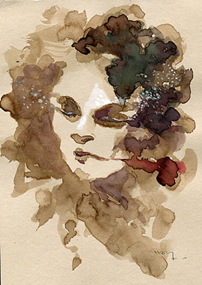 """Painting titled """"fragment 74"""" by Sandrine Wely, Original Art, Ink"""