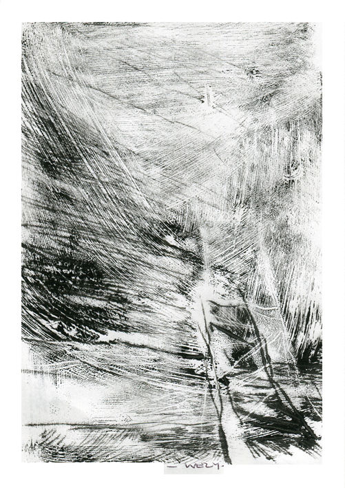 Pont-cale - Printmaking,  17x12 cm ©2017 by Sandrine Wely -