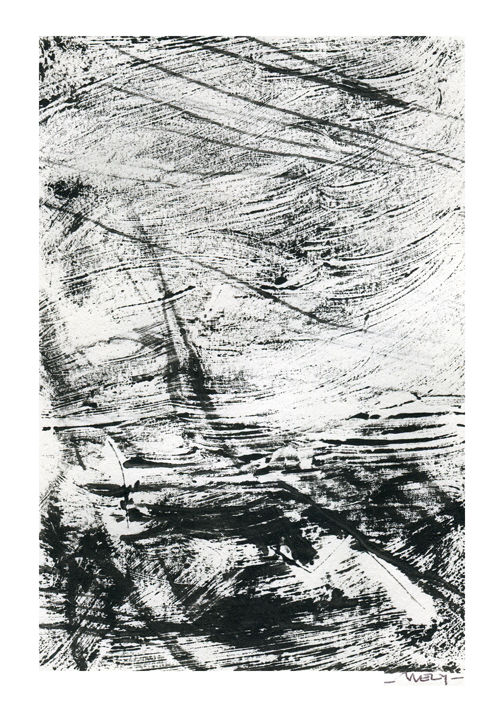 Sombre sombre - Printmaking,  17x12 cm ©2017 by Sandrine Wely -