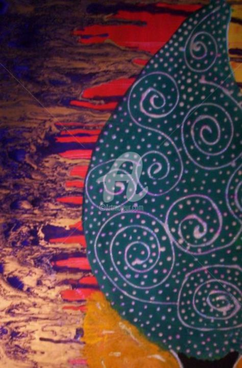 """Painting titled """"TRIBAL TREE - DETAIL"""" by Redreamer, Original Art,"""