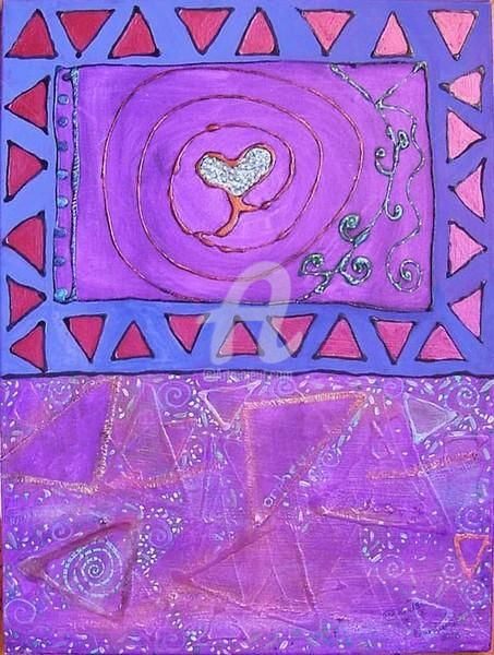 """Painting titled """"TRIBAL LOVE"""" by Redreamer, Original Art, Acrylic"""