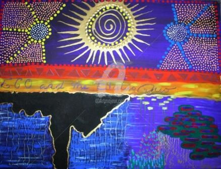 """Painting titled """"TRIBAL SERIES; EGO"""" by Redreamer, Original Art, Other"""