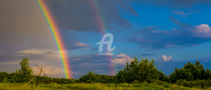 Redreaming Double Rainbow - ©  rainbow, weather, skyscapes, redreamer, wendy bandurski-miller, double rainbows Online Artworks