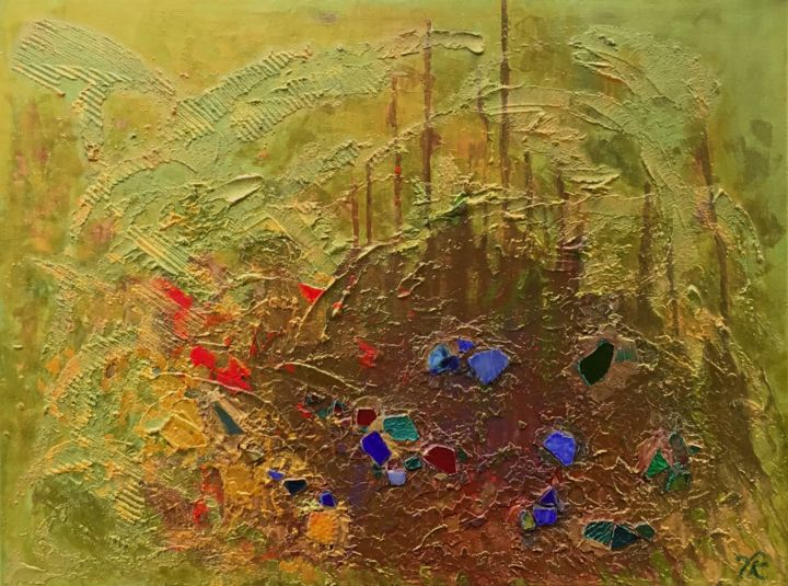 """Painting titled """"JEWELS OF THE EARTH"""" by Vera Klimova, Original Art, Oil"""