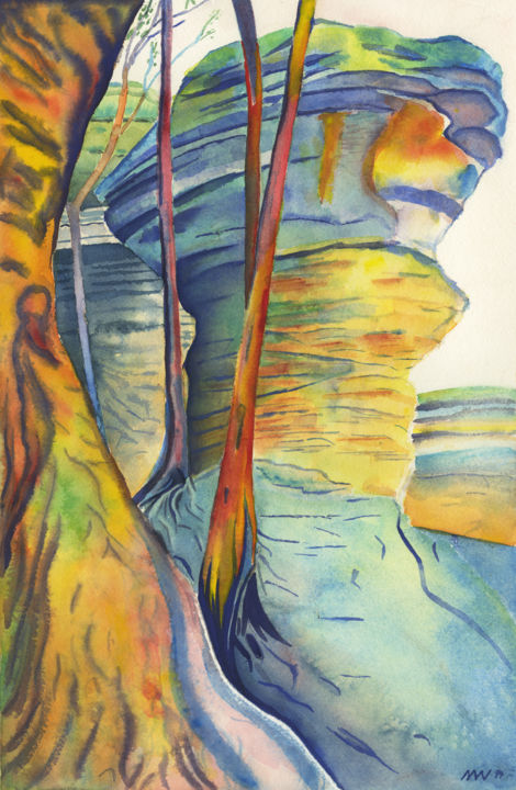 """Painting titled """"The Anvil"""" by Nathaniel Whynott, Original Art, Watercolor"""