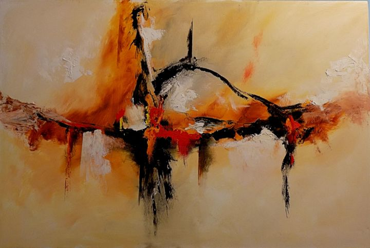 """Painting titled """"Abstract 3"""" by Willis Moore, Original Art, Oil"""