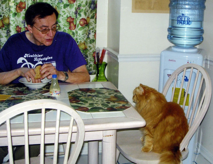 """Photography titled """"My Lunch With Goochi"""" by William Olexik, Original Art, Digital Photography"""