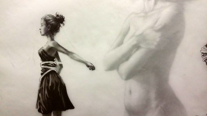 """Drawing titled """"untitled"""" by William Johns, Original Art,"""