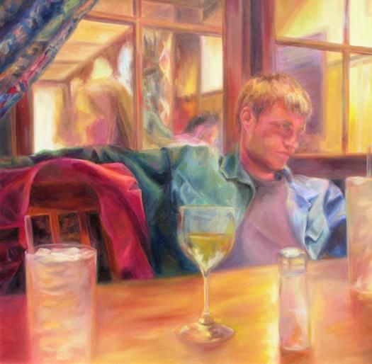Meeting Her Parents - Painting,  30x30 in, ©2005 by Winters -