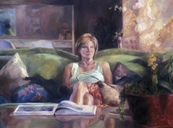 Mary Ann - Painting,  36x48 in, ©2004 by Winters -