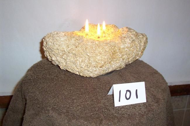 Rock Candles - Artcraft,  8x6 in ©2012 by Leroy -            Rock candle