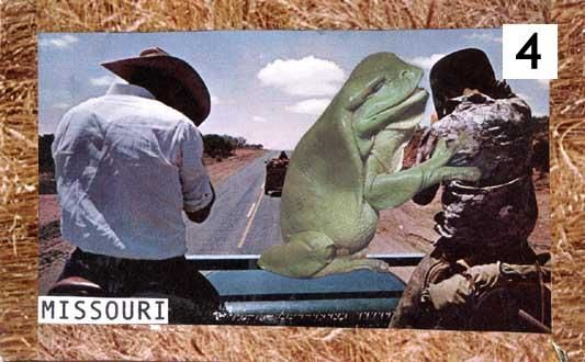 """Collages titled """"frogcowboys"""" by Stella Stella, Original Art,"""