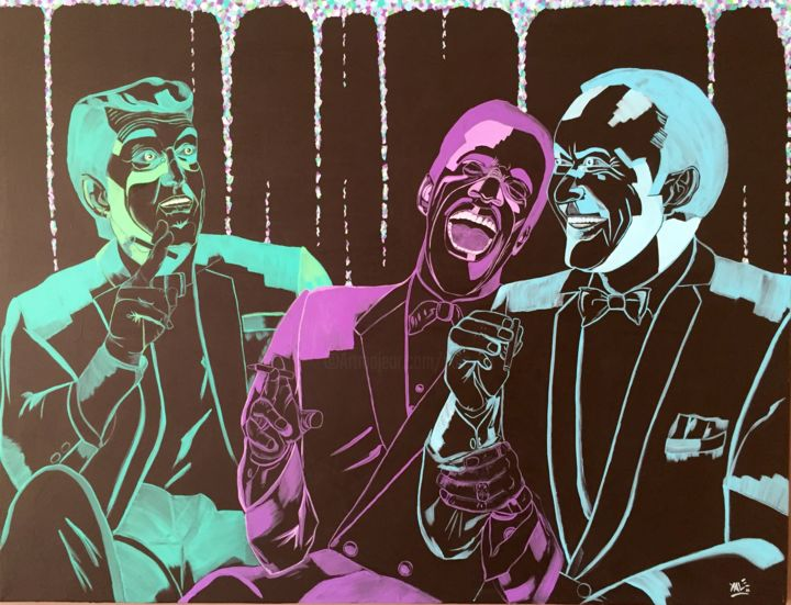 """Painting titled """"""""The (Fun) Rat Pack"""""""" by Xale, Original Art, Acrylic"""