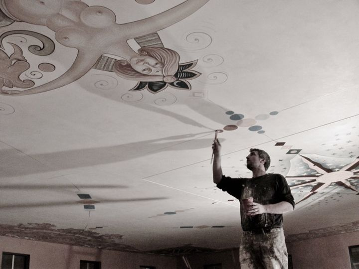 the-ceiling-of-new-dolce-caffe-in-missoula-artemide-12mx21m-by-kujtim-turkeshi-2008.jpg - Painting ©2014 by timi -