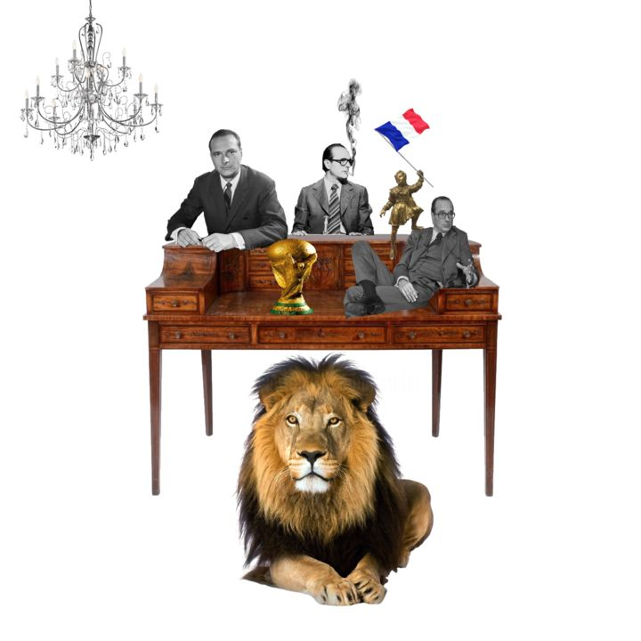 Chirac et le lion - Photography, ©2019 by XTOFER -