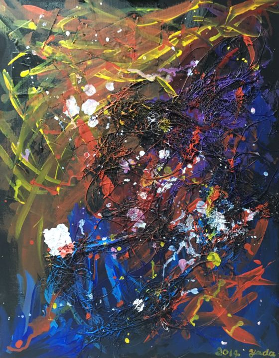 """Painting titled """"Fading Wave"""" by Yadamaniart, Original Art, Acrylic"""