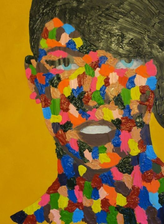 """Painting titled """"Color Me Happy"""" by Yair Shoshani, Original Art, Acrylic"""
