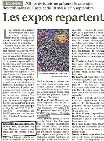 Press Coverage EXPOSURE May 2007 CHATEAU D'EXCIDEUIL
