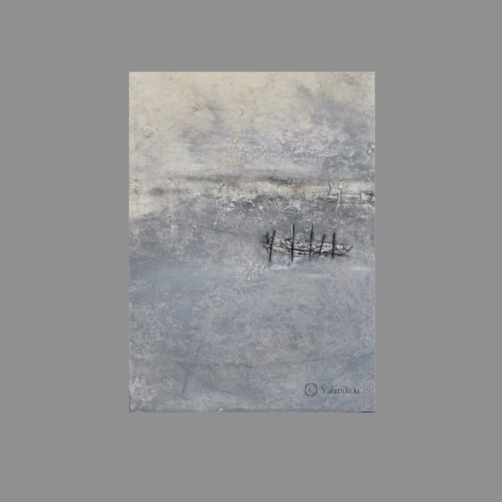 Sans titre 1 - Painting,  28x20 cm ©2015 by YAKINIKOU -                                                                        Abstract Art, Abstract Expressionism, Paper, Abstract Art, PEINTURE PAYSAGE ABSTRAIT, EXPRESSIONISME ABSTRAIT, PEINTURE CONTEMPORAINE