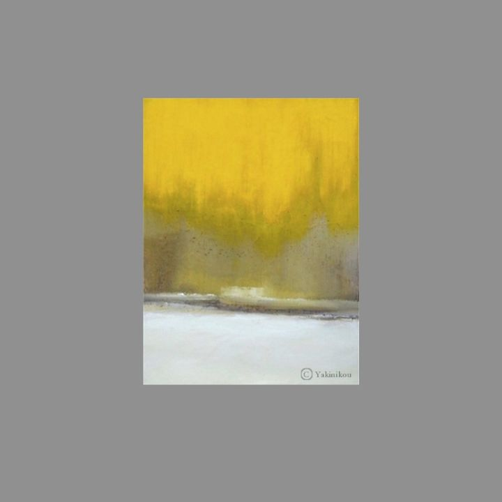 Sans titre 4 - Painting,  33x25 cm ©2015 by YAKINIKOU -                                                                        Abstract Art, Abstract Expressionism, Paper, Abstract Art, ART ABSTRAIT, EXPRESSIONISME ABSTRAIT, PEINTURE A L'HUILE, PEINTURE CONTEMPORAINE