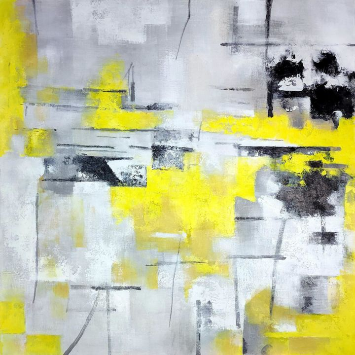 """Painting titled """"Abstract A05D"""" by Yakir Zendo, Original Art, Oil Mounted on Stretcher frame"""