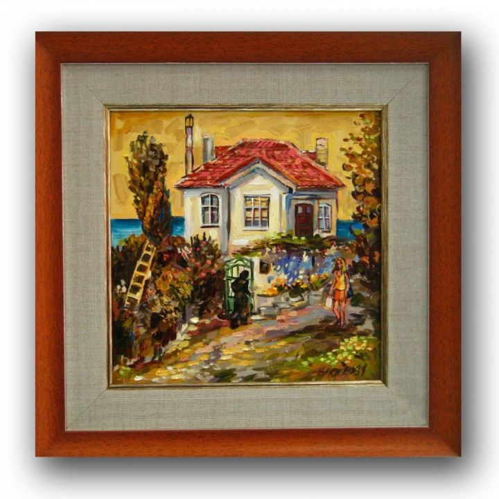 """Painting titled """"Summer House by Res…"""" by Gallery Yamelievi Yameliev, Original Art,"""