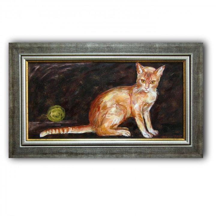 """Painting titled """"cat"""" by Gallery Yamelievi Yameliev, Original Art,"""